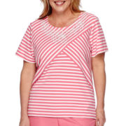 Alfred Dunner® Acapulco Short-Sleeve Spliced Stripe Tee - Plus