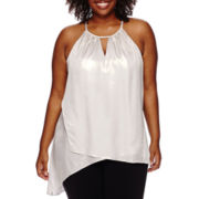 Worthington® Asymmetrical Halter Top - Plus