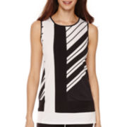Worthington® Sleeveless Colorblock T-Shirt - Petite