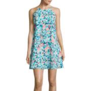 Decree® Sleeveless Halter Swing Dress