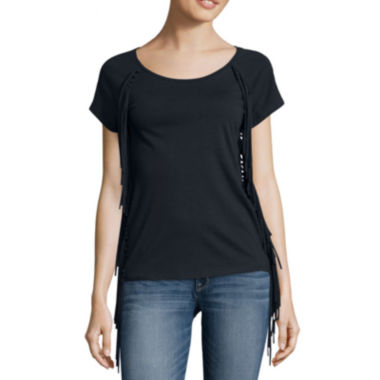 jcpenney.com | a.n.a® Short-Sleeve Fringe Tee