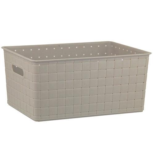 "Home Basics 18"" Woven Plastic Storage Basket"