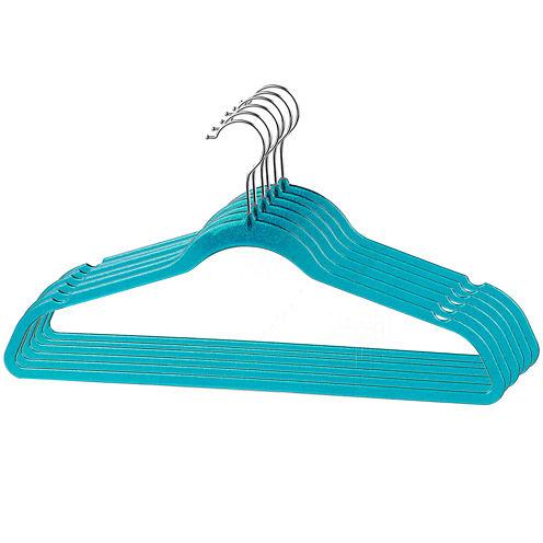 Home Basics 6-Pack Plastic Glitter Hangers