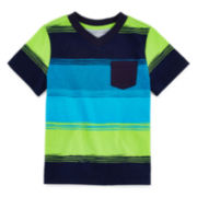 Arizona Short-Sleeve Stripe Tee - Toddler Boys 2t-5t