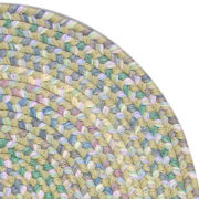 Tropical Delight Reversible Braided Round Rug