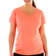 Xersion™ V-Neck Recycled-Mesh Tee - Plus