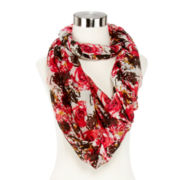 Rose Cluster Print Scarf