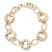Liz Claiborne® Gold-Tone, Textured Ring Flex Bracelet