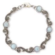 Liz Claiborne® Aqua Stone & Marcasite Boxed Flex Bracelet