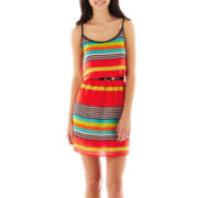 Be Smart Spaghetti-Strap Striped Dress