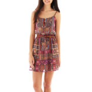 Love Reigns Spaghetti-Strap Print Dress