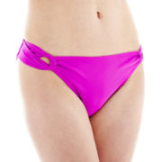 Arizona Side-Cinched Hipster Swim Bottoms