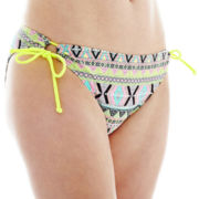 Arizona Diamond Print Hipster Swim Bottoms - Juniors