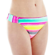 Arizona Striped Hipster Swim Bottoms - Juniors