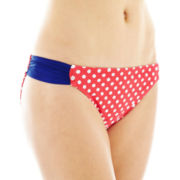 Arizona Polka Dot Print Hipster Swim Bottoms - Juniors