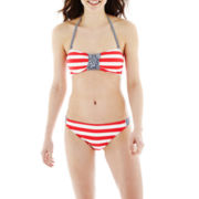 Arizona Reversible Bandeau Swim Top or Striped Hipster Bottoms