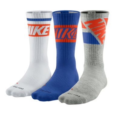 jcpenney.com | Nike® 3-pk. Dri-FIT® Fly Rise Crew Socks
