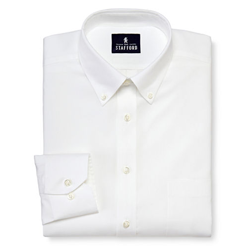 Stafford® Signature Non-Iron 100% Cotton Pocketed Dress Shirt–Big & Tall