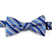 JF J. Ferrar® Moss Stripe/Forte Plaid Pre-Tied Bow Tie