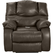 Hillside Leather Heat and Massage Recliner