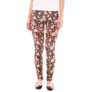 Elegant Rose Print Leggings