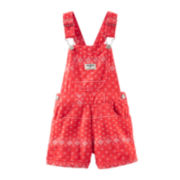 OshKosh B'gosh® Bandana Shortalls - Baby Girls 3m-24m