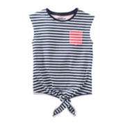 OshKosh B'gosh® Striped Pocket Tee - Girls 4-6x