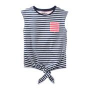 OshKosh B'gosh® Striped Pocket Tee - Girls 4-6x