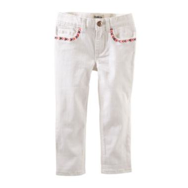jcpenney.com | OshKosh B'gosh® Embellished Crop Skinny Twill - Preschool Girls 4-6x