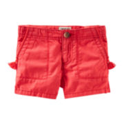OshKosh B'gosh® Red Twill Shorts - Preschool Girls 4-6x