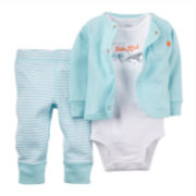 Carter's® 3-pc. Cardigan Set - Baby Boys newborn-12m