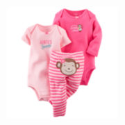 Carter's® 3-pc. Bodysuits and Pants Set - Baby Girls newborn-24m