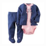 Carter's® 3-pc. Cardigan Set - Baby Girls newborn-9m