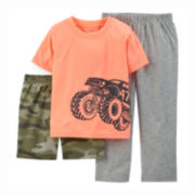 Carter's® 3-pc. Monster Truck Pajama Set - Preschool Boys 4-7