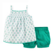Carter's® Pom-Pom Top and Bubble Shorts - Baby Girls newborn-24m