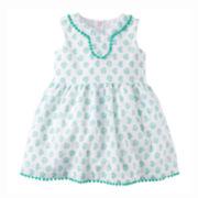 Carter's® Pom-Pom-Trimmed Dress - Baby Girls newborn-24m