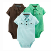 Carter's® 3-pk. Polo Bodysuits - Baby Boys newborn-24m