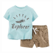 Carter's® Tee and Shorts Set - Baby Boys newborn-24m