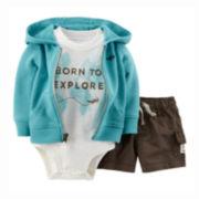 Carter's® Bodysuit, Hoodie and Shorts - Baby Boys newborn-24m