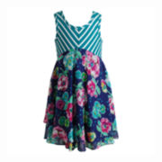 Pinky Tiered Dress - Preschool Girls 4-6x