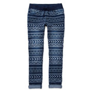 Arizona Knit Denim Crops - Girls 7-16 and Plus