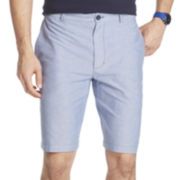IZOD® Flat-Front Oxford Shorts