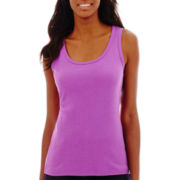 St. John's Bay® Essential Ribbed Tank Top
