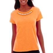 St. John's Bay® Short-Sleeve Jeweled T-Shirt