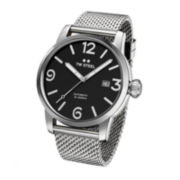 TW Steel Maverick Mens Automatic Black Dial Stainless Steel Milanese Bracelet Watch