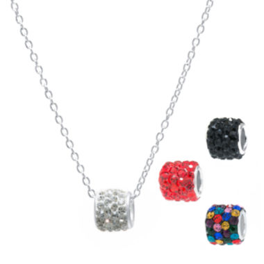 jcpenney.com | Crystal Sophistication™ Multicolor Crystal and Silver-Plated Brass Pendant Set