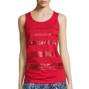 St. John's Bay® Sequin Tank Top - Tall