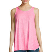 a.n.a® Rib Trim Luna Tank Top - Tall