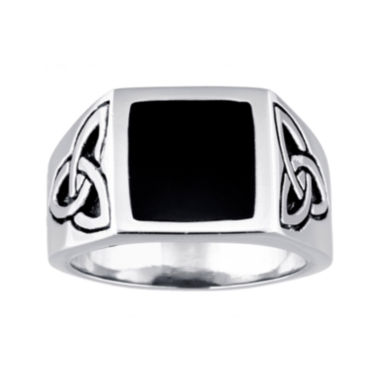 jcpenney.com | Mens Stainless Steel Celtic Knot Ring with Resin