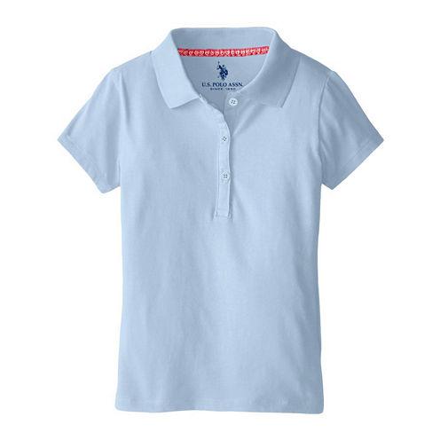 U.S. Polo Assn.® Short-Sleeve Stretch Knit Polo - Preschool Girls 4-6x